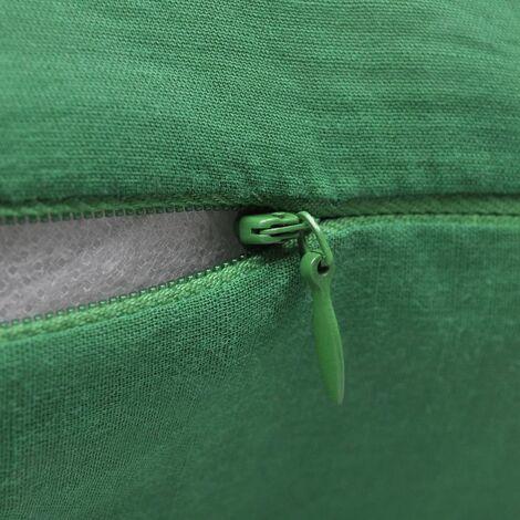 4 Green Cushion Covers Cotton 50 x 50 cm QAH00560