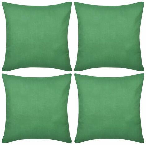 4 Green Cushion Covers Cotton 50 x 50 cm VDTD00560