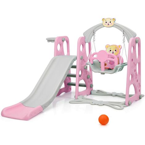 """main image of """"4 in 1 Kids Play Toddler Climber and Swing Set Playset Backyard Playground"""""""