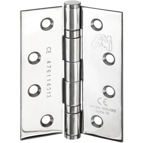4 Inch Heavy Duty Hinges for Fire Doors CE Stamped Polished Finish