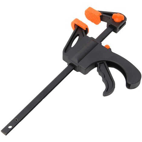 4 Inch Woodworking Bar Fast F Clamping Grip Quick Ratchet Release Squeeze Carpentry Wood Trigger Clamps