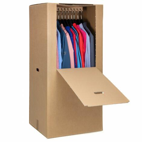 4 Kleiderbox Kleiderkarton Umzug-Karton Speditionsware
