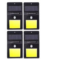 4 lampade luce faretto faro esterno energia solare 48 led sensore movimento