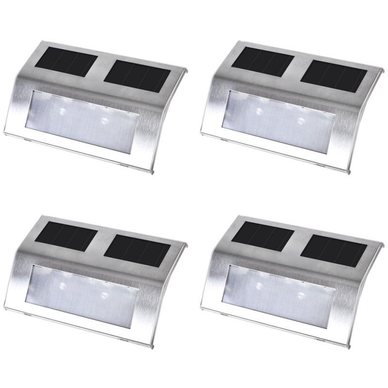 4 Lampes Solaires Pour Escalier Maja Mj40757