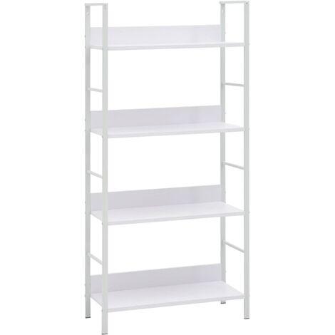 4-Layer Book Shelf White 60x27.6x124.5 cm Chipboard