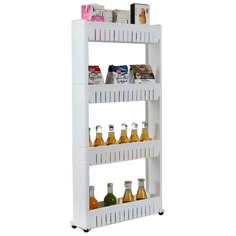 4 Layer Plastic Storage Rack White