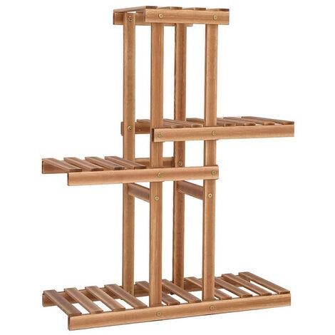 4 Layers Wooden Flower Stand Pot Plant Display Shelves Storage Garden Home Decor 67x25x80cm