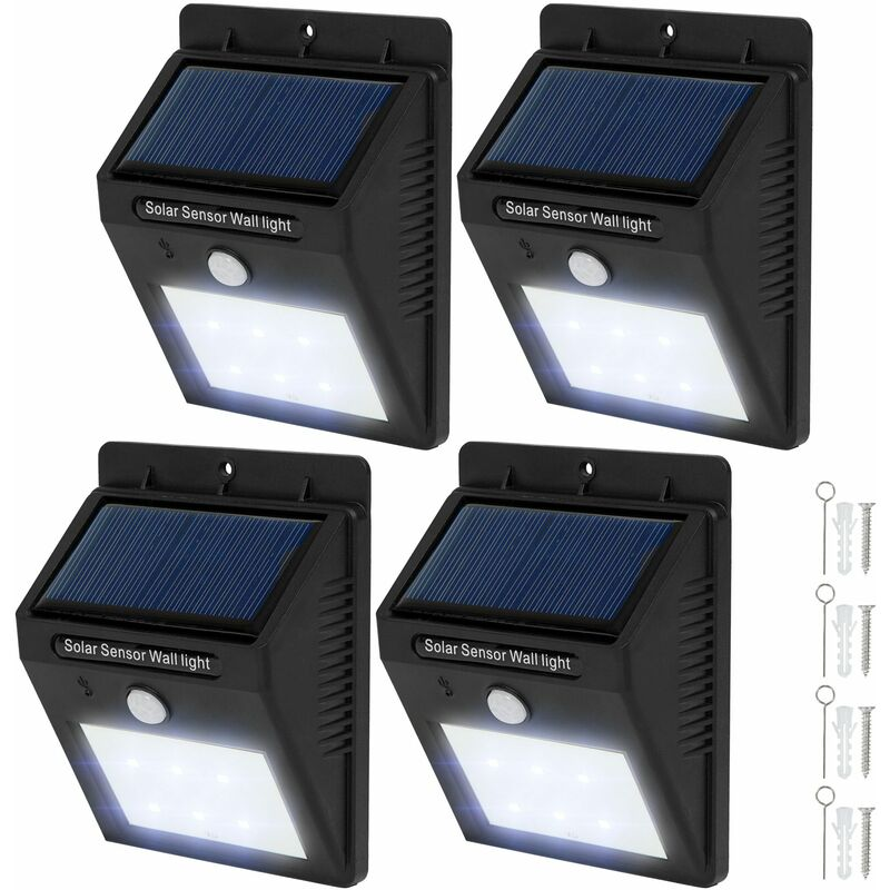 4 Led Solar Wall Lights With Motion