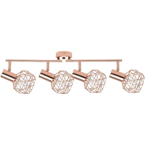 4 Light Ceiling Track Light Copper CHENAB