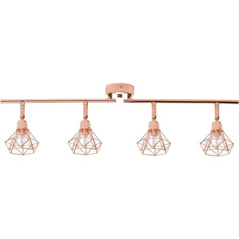4 Light Ceiling Track Light Copper ERMA