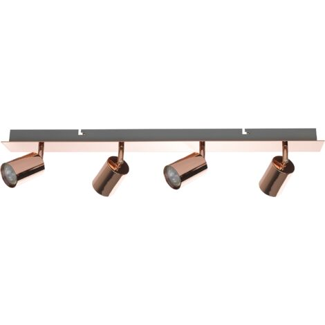4 Light Ceiling Track Light Copper TIGRIS