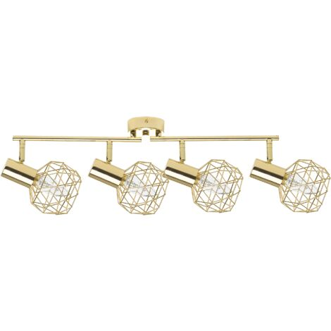 4 Light Ceiling Track Light Gold CHENAB