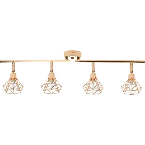 4 Light Ceiling Track Light Rose Gold ERMA