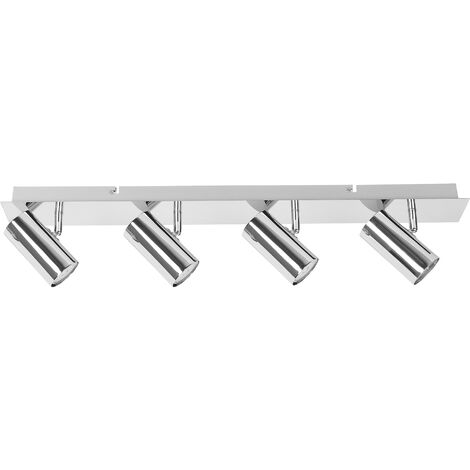 4 Light Ceiling Track Light Silver ROSETTA