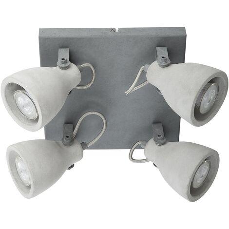 4 Light Concrete Ceiling Lamp MISTAGO