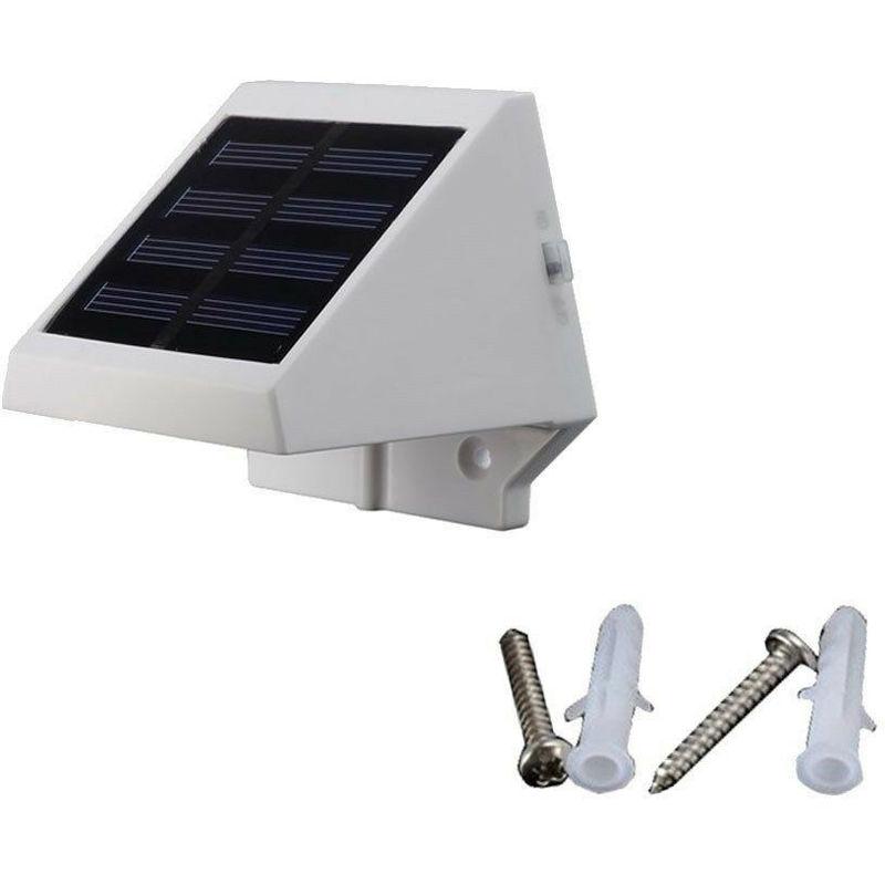 4 Light-Emitting Diode Solar Energy Scale recinto luce impermeabile della lampada di sicurezza esterna del giardino - ASUPERMALL