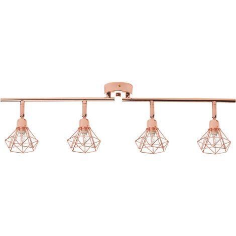 4 Light Metal Ceiling Lamp Copper ERMA