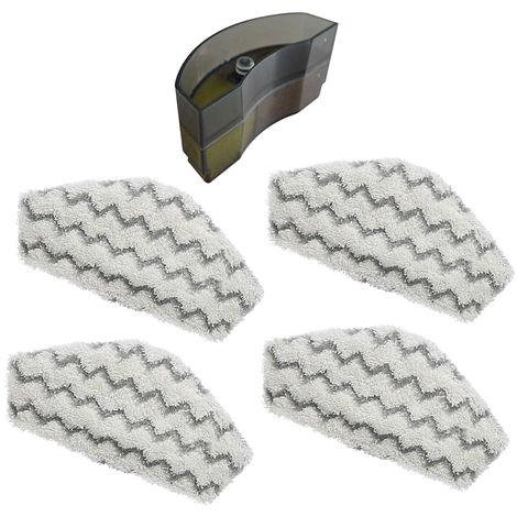 4 lingettes microfibres + 1 filtre anti-calcaire pour le Steam & Clean