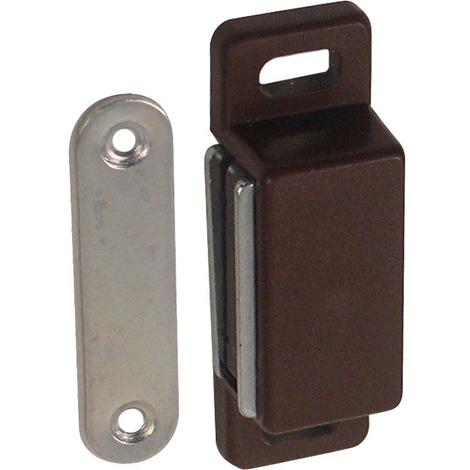 4 loqueteaux magnétique plastique brun 3x48mm