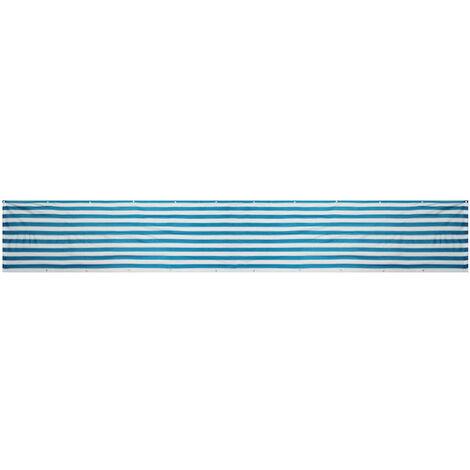 4 m * 0,9 m Brise Vue Balcon Jardin Terrasse Bleu à Rayures HDPE Polyester