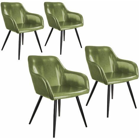 4 Marilyn Faux Leather Chairs