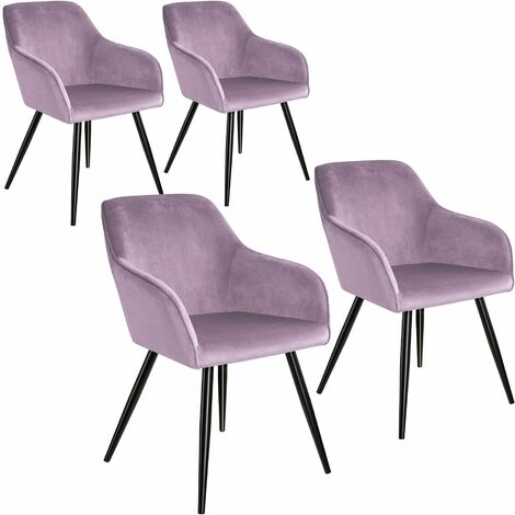 4 Marilyn Velvet-Look Chairs