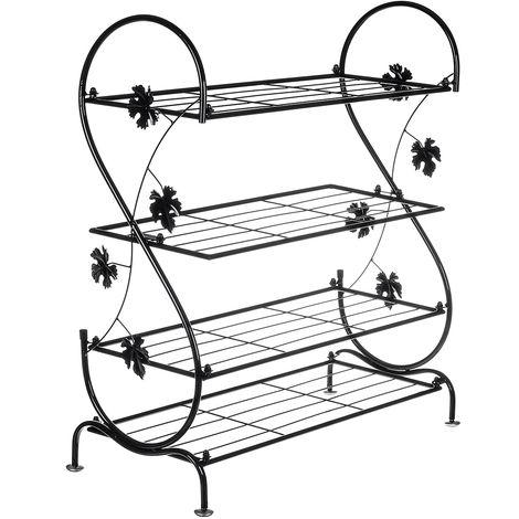 4 niveles de estantes de almacenamiento de estantes para zapatos