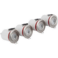 4 Pack - Biard IP20 Fire Rated GU10 Adjustable Downlight Can - Round