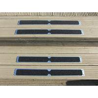 4 Pack of Aluminium Decking Steps Anti Slip Grip Plates Non Slip 115mm x 1000mm