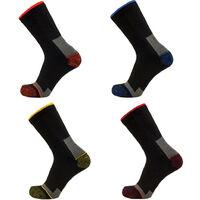 4 paires de chaussettes renforcées polyamide - Gamme Chaussettes - ELIOS - NOIR-COLORIS CONTRASTANTS - 99105C - LMA Lebeurre