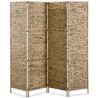 4-Panel Room Divider 160x160 cm Water Hyacinth