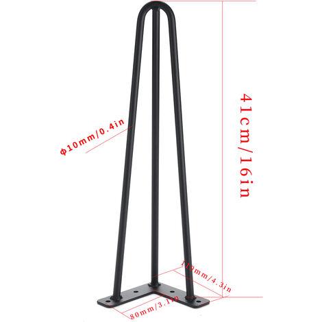 """4 patas de mesa de metal de 41 cm / 16 """""""