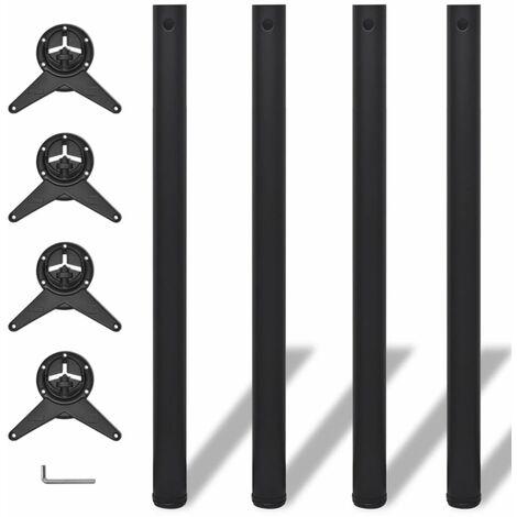 4 Patas de Mesa Regulables en Altura 870 mm (Color Negro) HAXD09074