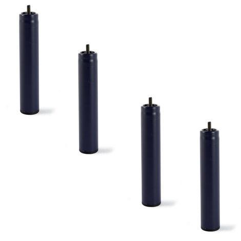 4 patas de somier o base tapizada , Metalicas , cilindricas con rosca (26cm o 32cm)
