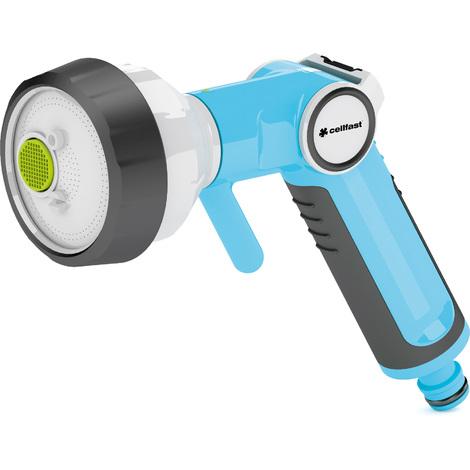 """4-Pattern Adjustable Hand Gun Sprinkler ERGO 1/2"""" With Soft Grip Handle"""