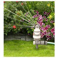 4 - Pattern Gear Drive Rotating Sprinkler On Spike - With Watering Sector Selection - White Line