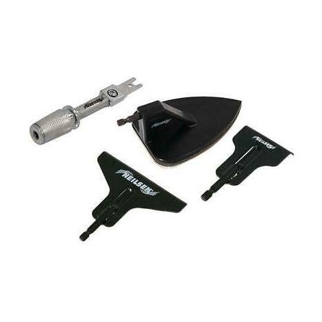 4 Pc Reciprocating Saw Accessory Set Scraper Sander Adaptor