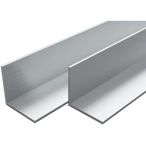 4 pcs Aluminium Angle Bars L Profile 1m 20x20x2mm
