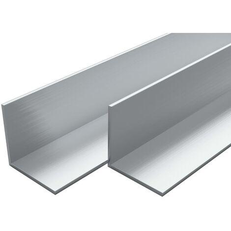 4 pcs Aluminium Angle Bars L Profile 2m 40x40x2mm