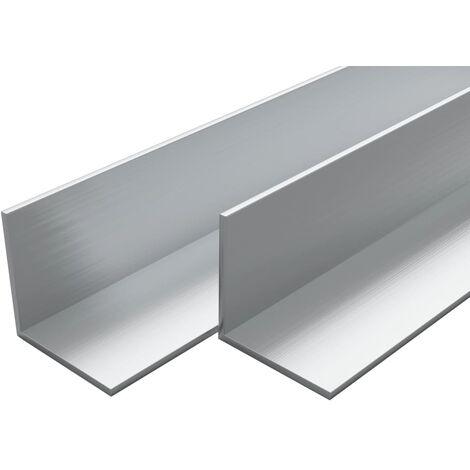 4 pcs Aluminium Angle Bars L Profile 2m 50x50x2mm