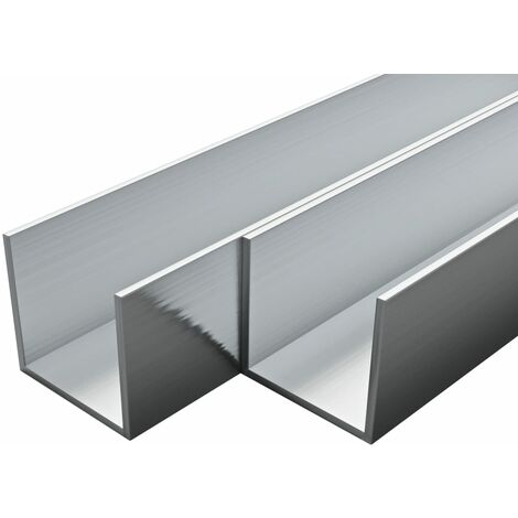 4 pcs Aluminium Channels U Profile 2m 10x10x2mm