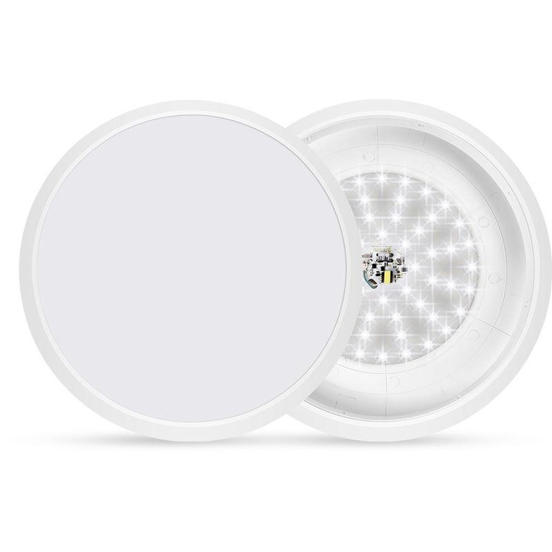 Hommoo - 4 PCS LED Sternenhimmel Deckenleuchte Kaltweiß Energiesparlampe Küche Lichtpaneel Deckenbeleuchtung Schlafzimmer Esszimmer Wohnzimmer