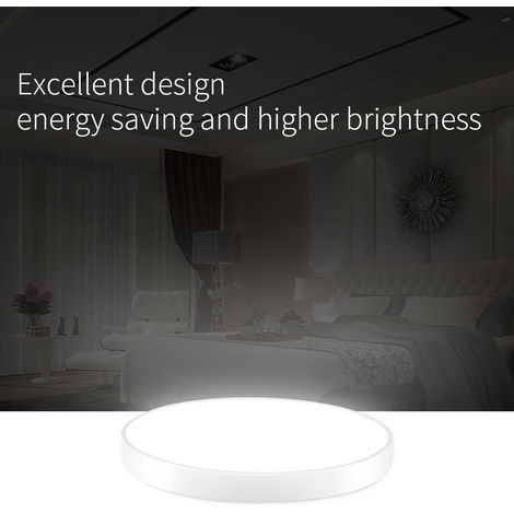 4 PCS LiVing - Lámpara de techo LED para cocina, baño, ultra delgado y redondo