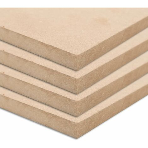 4 pcs MDF Sheets Square 60x60 cm 25 mm