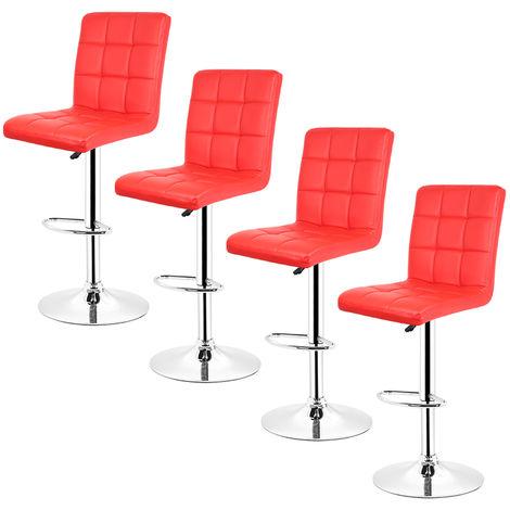 4 pcs tabouret de bar chaise longue comptoir bar chaise cuisine tabouret dinant