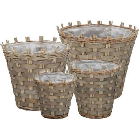4 Piece Plastic Planter Box Set by Longshore Tides - Brown