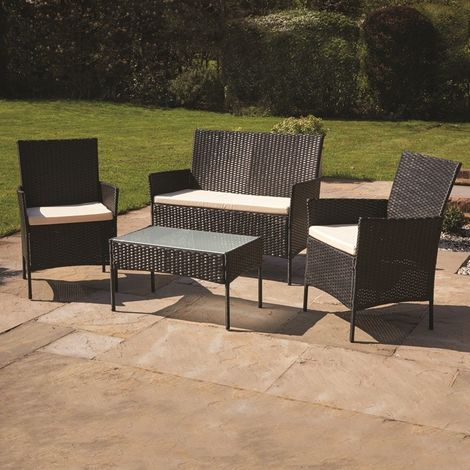 4 Piece Rattan Furniture Set