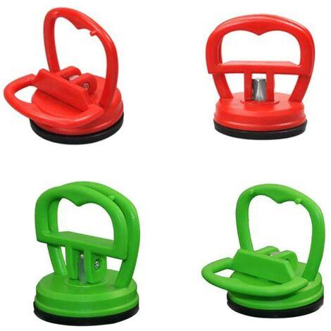 4 Pièces 5.5 cm Dent Pullers Ventouses Ventouses de Réparation Puller Removal Tool, Ventouses Robustes, Kit d'outils de Réparation pour Tablette ou Autre écran LCD(Rouge, Vert)