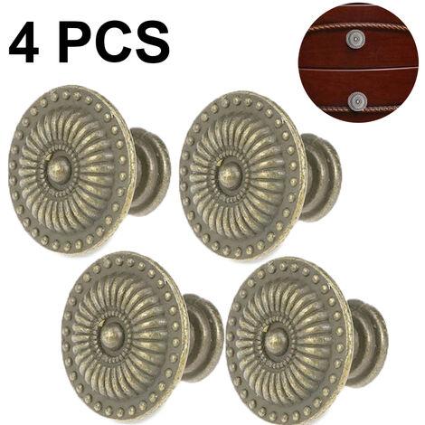 """main image of """"4 pieces bronze vintage drawer knob, 24MM retro cabinet door knobs, drawer handles, furniture knob, dresser knobs, drawer knobs set, knob for cupboard drawer kitchen"""""""
