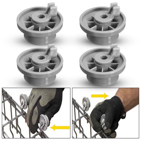 4 Pieces Dishwasher Lower Basket Wheel Wheel Ap2802428, 165314 For Bo-Sch-Neff Siemens Hasaki
